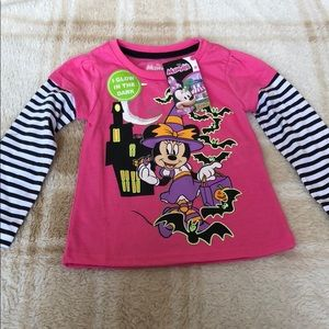 New Toddler Girl Minnie Mouse T-Shirt 🦇